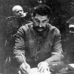 Stalin signing death warrants