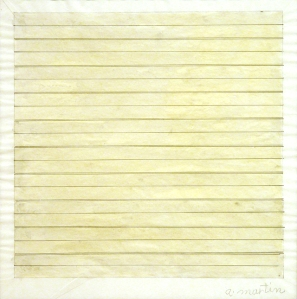 Drawing by minimalist artist Agnes Martin