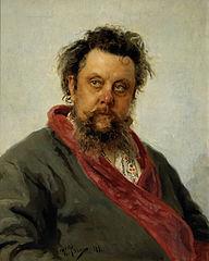 Mussorgsky portrait by Repin