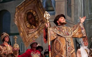 Photo from a performance of Boris Godunov